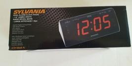 Sylvania Dual Alarm Clock Radio, SCR1206B-PL AM/FM LED DISPLAY - $14.01