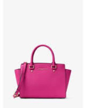 Michael Kors Studio Selma Raspberry Cow Leather... - $479.99