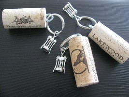 Nautical Cork Keychain Corkscrew Wine Bottle Op... - $3.55