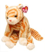 TY Beanie Buddy - AMBER the Gold Tabby Cat - $36.05