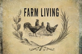 Farm Living Clipart &  Background Papers Design... - $16.83