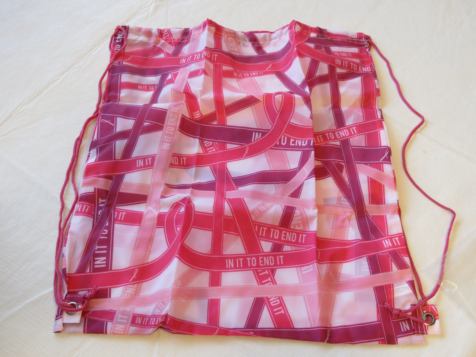 Avon Womens Ladies Breast Cancer Ribbons Backpack pinks light F3619881 NEW;;