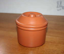 Red Clay Pottery Canister with Lid - Made in Vila Rica Brazil   - $8.99