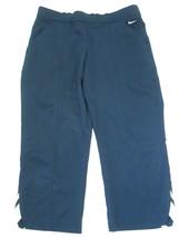 Nike 100% Polyester Capris Pants, Navy Blue, Sz. Small - $27.23