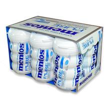 Mentos Gum Pur White  Sweet Mint - Big Bottle 4.5 Oz Each ( 6 In A Pack ) - $29.22