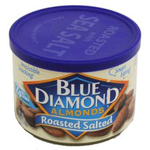 Blue Diamond Almonds Roasted Salted Can 6 Oz Each ( 1 Can ) - $11.11