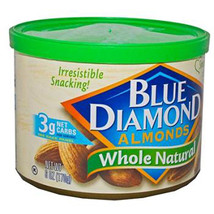 Blue Diamond Almonds Whole Natural Can 6 Oz Each ( 1 In A Pack ) - $11.11