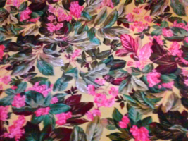 Paradise floral cotton quilting fabric - $8.00
