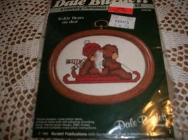 Teddy Bears on Sled Cross Stitch Kit Dale Burdett CCK132 - $8.00