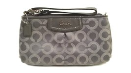 Coach Ashley Dotted Op Art Large Wristlet 48053 SV/Gray - ₨14,678.71 INR