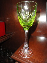 Faberge Odessa Lime Green Wine Glasses - $195.00