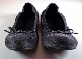 Stuart Weitzman Womens Ballet Flats Black Metallic Glitter Shoes 37 6 - 6.5 - $79.95
