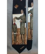 "1996 Norman Rockwell Men's Necktie, ""Saturday Evening Post,"" Student and... - $9.99"