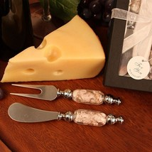 Arte Murano Glass Handled Cheese Knife Spreader and Fork Set - 36 Sets - $239.99