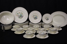 65pc Vtg Hand Painted Wedgwood Wellesley MONTREAL AL9346 Service for 11,... - $499.99