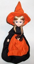 Seymour Mann Halloween Witch Musical Connoisseur Collector Doll Music Box 1987 - $14.84