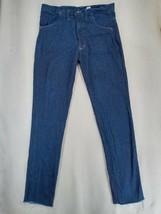 """CSI Mens Blue Distressed Raw Hem Denim Jeans Size 36W - 38""""x40"""" - $23.70"""