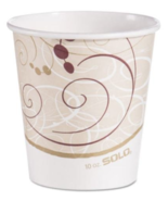 SOLO 510SM Paper Hot Cups Symphony Design 10 oz Beige/White/Red New Part... - $73.05