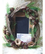 Rustic Naturals Picture Frame 4 Table Top~Feathers Pods Mini Burgundy Mi... - $69.00