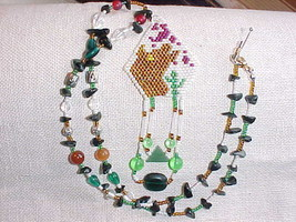 Howling Wolf custom beaded Necklace , Handmade one of a kind , native style - $18.81