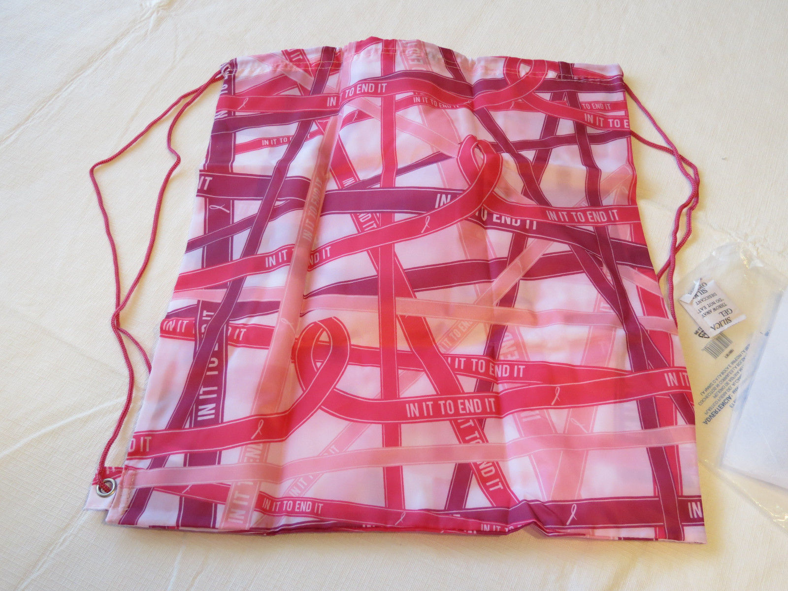 Avon Womens Ladies Breast Cancer Ribbons Backpack pinks light F3619881 NEW;; image 2