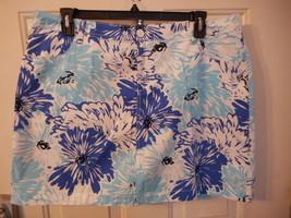 Women's St. John's Bay Secretly Slender Skort Size 4 Blue Floral  New  - $21.77