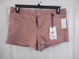 Women's Juniors Vanilla Star High Rise Shortie Shorts Dusty Rose Size 15... - $21.77