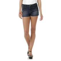 Women's Juniors Embellished Cutoff Denim Shorts Dark Wash Size 9 NEW - $22.27
