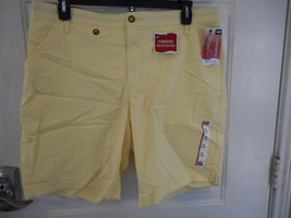 Women's Lee Opal Bermuda Shorts Yellow Sun Bleach Size 18M  NEW - $28.70