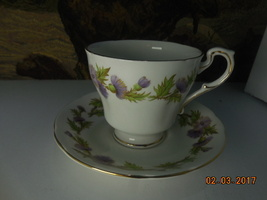 Paragon cup and saucer bone china Free Shipping Highland Queen cr. sugar, tab pl - $40.00