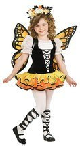 Monarch Butterfly Kids Costume Md 8-10 Kids Girls Costume - $28.78