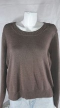 Sonoma Light Brown Long Sleeve Scoop neck Sweater Bin30#3  - $6.79