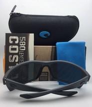 Polarized COSTA Sunglasses TASMAN SEA TAS 75 Matte Blue Frame w/Grey+Blue Mirror