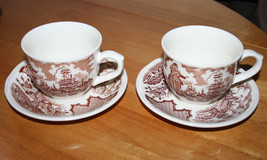 (Set of 2) Fair Winds by Alfred Meakin Staffordshire England Cup and Saucer - $16.99