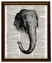 Elephant with Tusks African Animal Vintage Dict... - $12.00