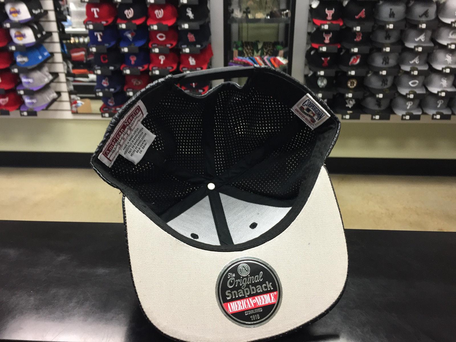 American Needle MLB San Diego Padres Delirious Black Snapback Cap Hat