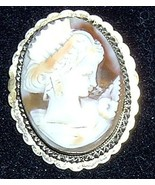 Vintage Shell Cameo 800 Silver Frame - $185.00