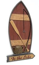 """Midwest-CBK To the Lake Boat Wall Hanging Décor 12"""" - $26.68"""