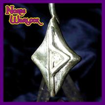 Magick Success Rune Silver Thurisaz Pendant! Metaphysical Viking Jewelry haunted - $299.99