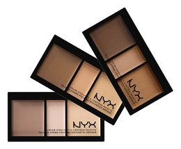 NYX Cream Highlight & Contour Palette, Light, Medium, Deep. CHCP - $13.81+