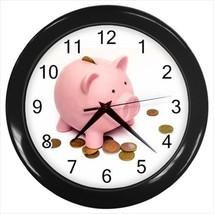 Piggy Bank Savings Wall Clock - Unique Novelty Gifts - $18.26