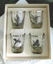 Rumpus Set 4 Shots Federal Glass  Platinum Rim ... - $49.49