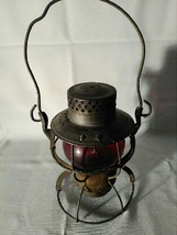 NEW YORK CENTRAL SYSTEM No. 999 Railroad Lantern Red Globe Stamped NYC - $150.00
