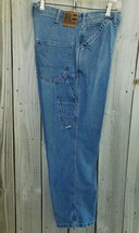 Vintage 1990's Polo Ralph Lauren Carpenter Denim Blue Jeans 29 x 29.5 Cut 63243 - $32.67
