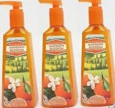 3 Bath & Body Works Anti-Bacterial Deep Cleansing Hand Soap Mandarin Blo... - $14.95