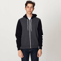 *F497W American Apparel Imported Unisex Flex Fleece Zip Hooded Sweatshirt New! - $24.43+