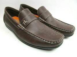 Saminto Laurenzini  Mens Brown Corkbed Moc Toe Loafers US Size 9 - $28.13