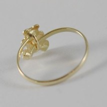SOLID 18K YELLOW GOLD RING WITH SATIN BEAR FOR GIRL, MADE IN ITALY image 3
