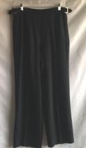 LIZ CLAIBORNE PANT WOMEN'S SIZE 14 BLACK TAILORED TROUSER HIGH WAIST SLACKS - $17.30
