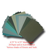 "Mat Board Art Project Green Colors Paper & Acid Buffered 20 Blank 4.75"" ... - $13.99"